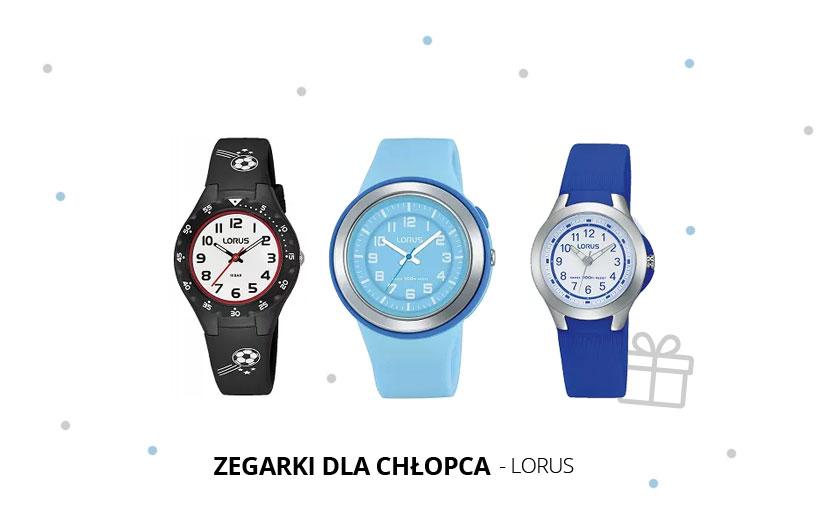 Sportowy prezent na komunię dla chłopca - zegarek Lorus