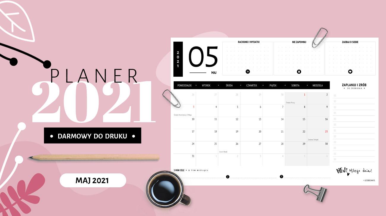 Planer maj 2021 - do druku za darmo