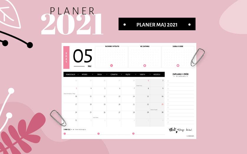 Planer maj 2021 - kolorowy
