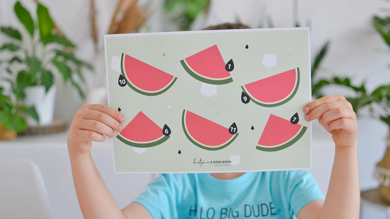 Pestki arbuza - Lato karty pracy do druku