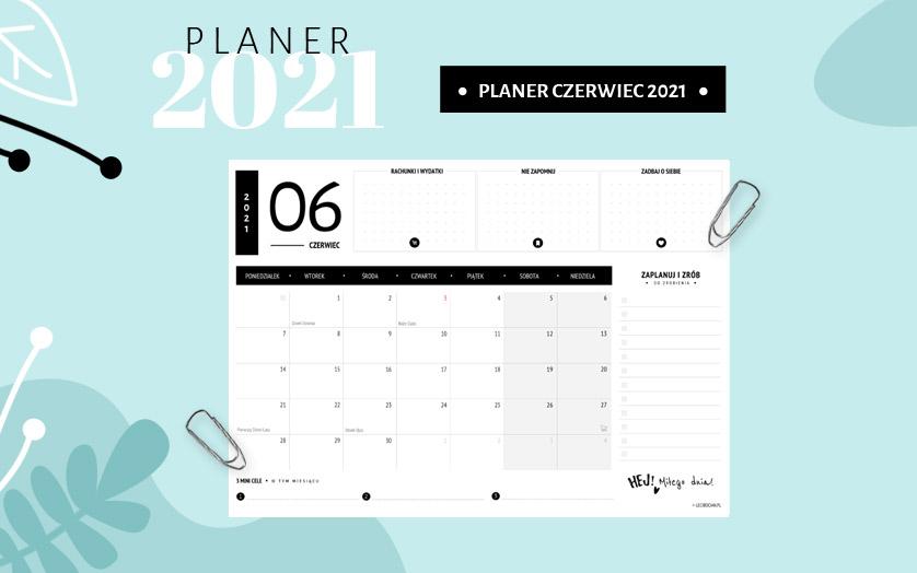 Planer czerwiec 2021 - czarny