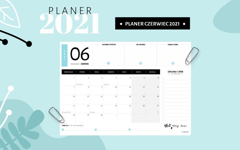 Planer czerwiec 2021 - kolorowy