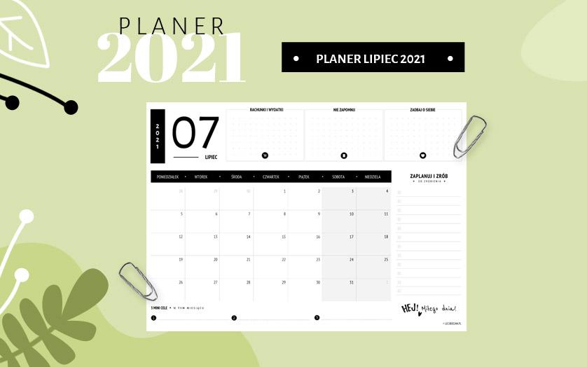Planer lipiec 2021 - czarny