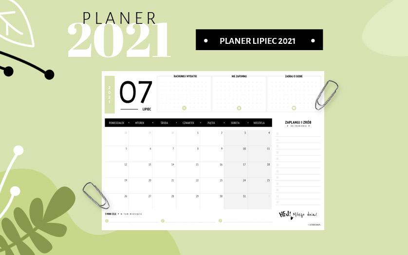 Planer lipiec 2021 - kolorowy
