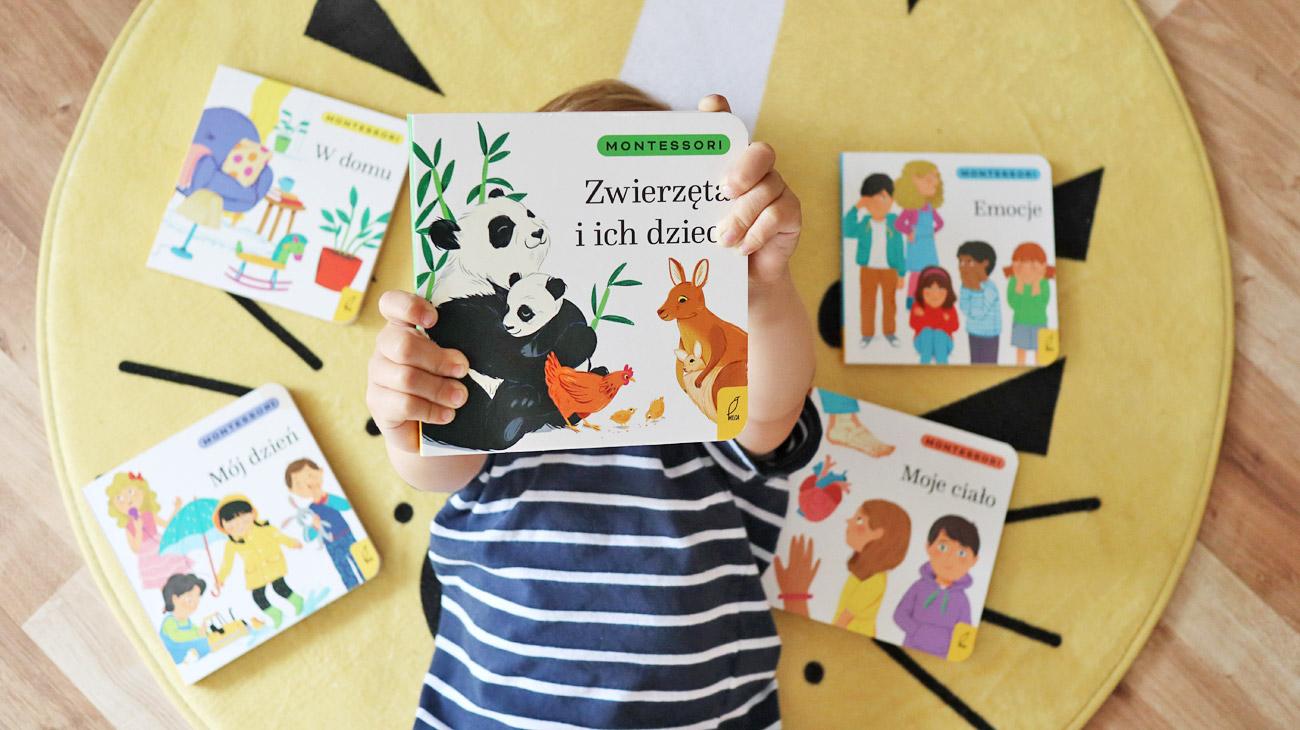 Kartonowe książki dla malucha w duchu Montessori
