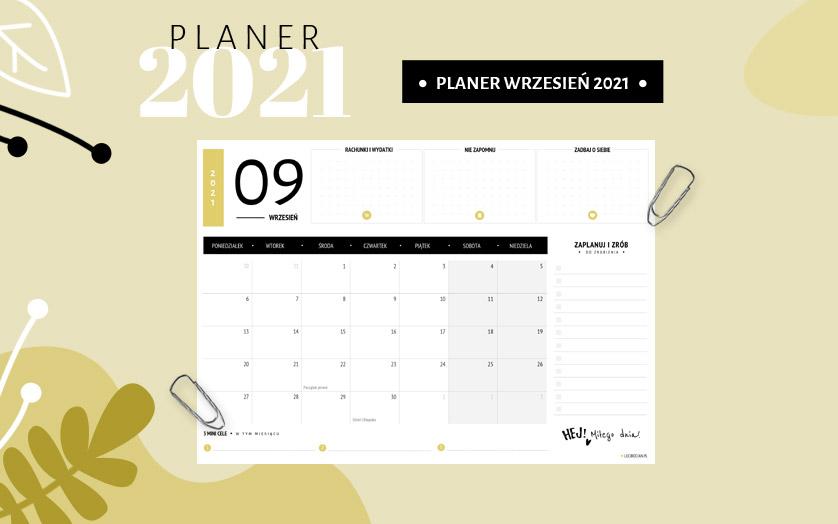 Planer wrzesień 2021 - kolorowy