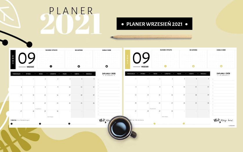 Planer wrzesień 2021 – do druku za darmo
