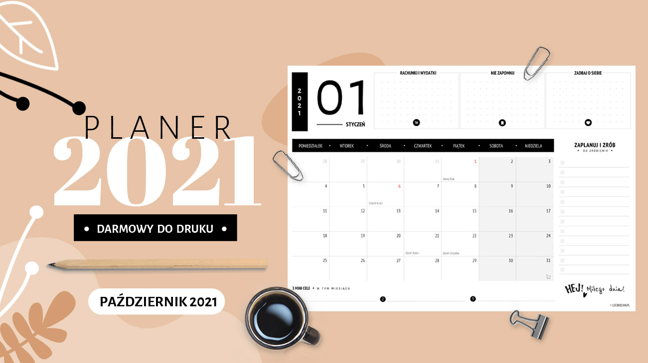 Planer październik 2021 – do druku za darmo