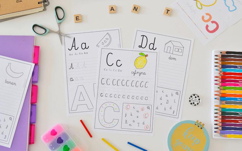 Karty z literami - pisz i rozwiązuj